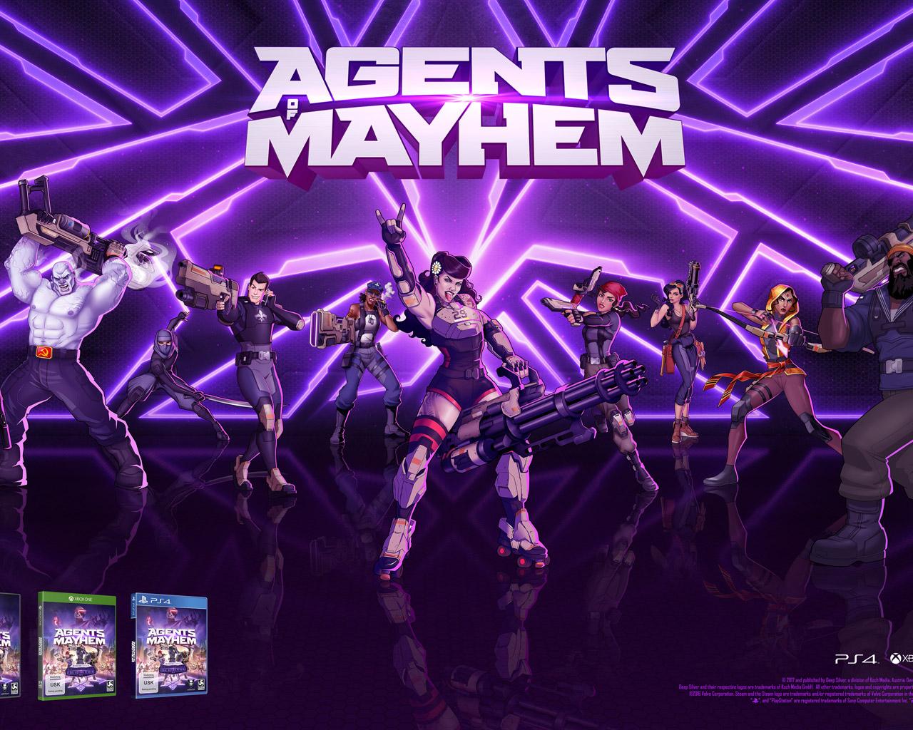 Free Agents of Mayhem Wallpaper in 1280x1024