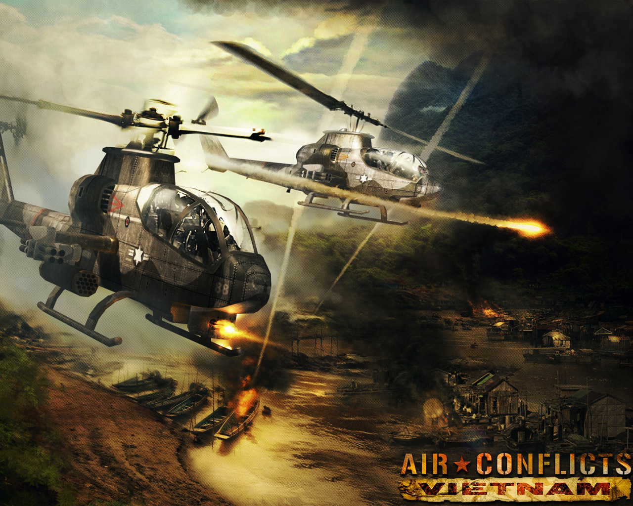 Air Conflicts: Vietnam Wallpaper in 1280x1024