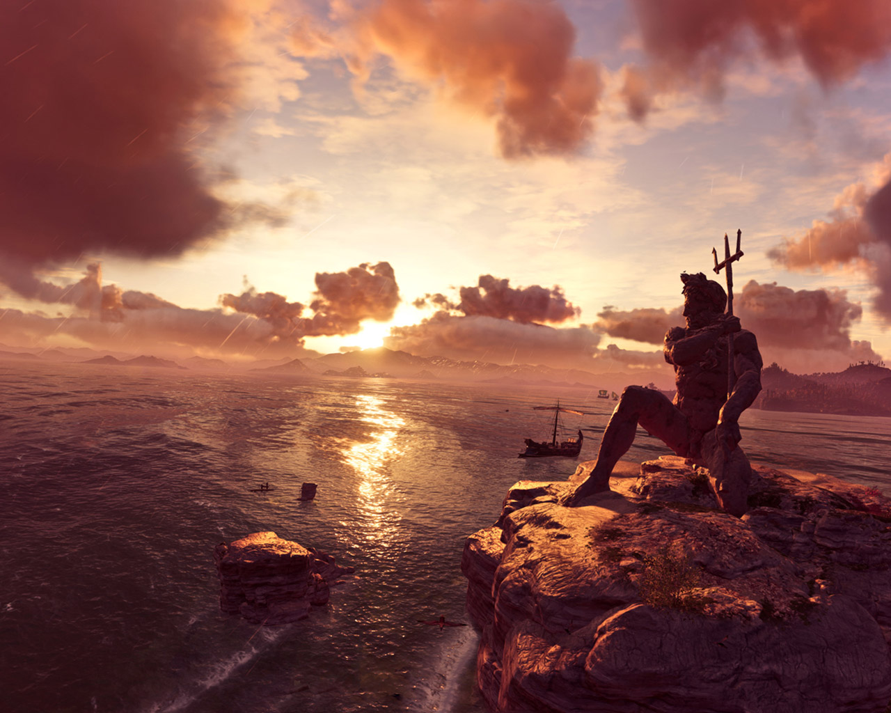 Free Assassin's Creed Odyssey Wallpaper in 1280x1024