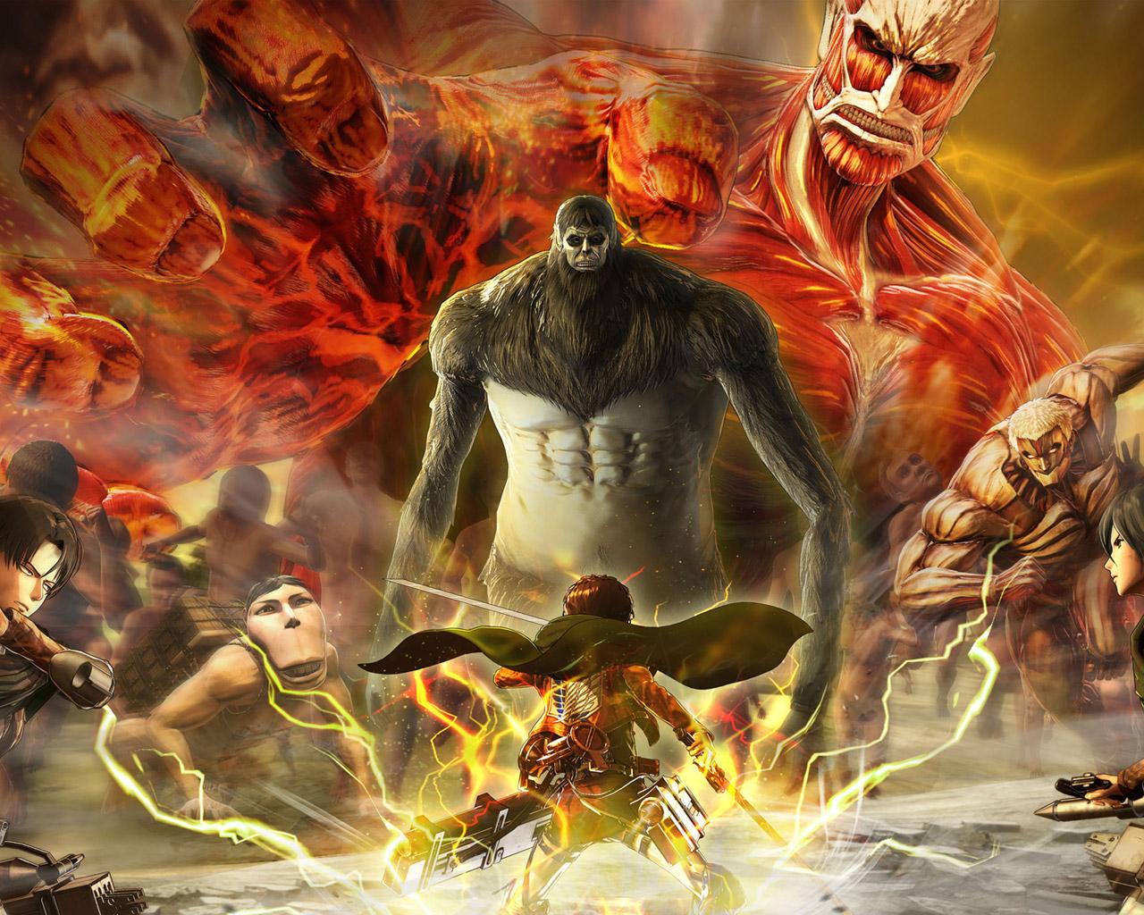 Free Attack on Titan 2 Wallpaper in 1280x1024