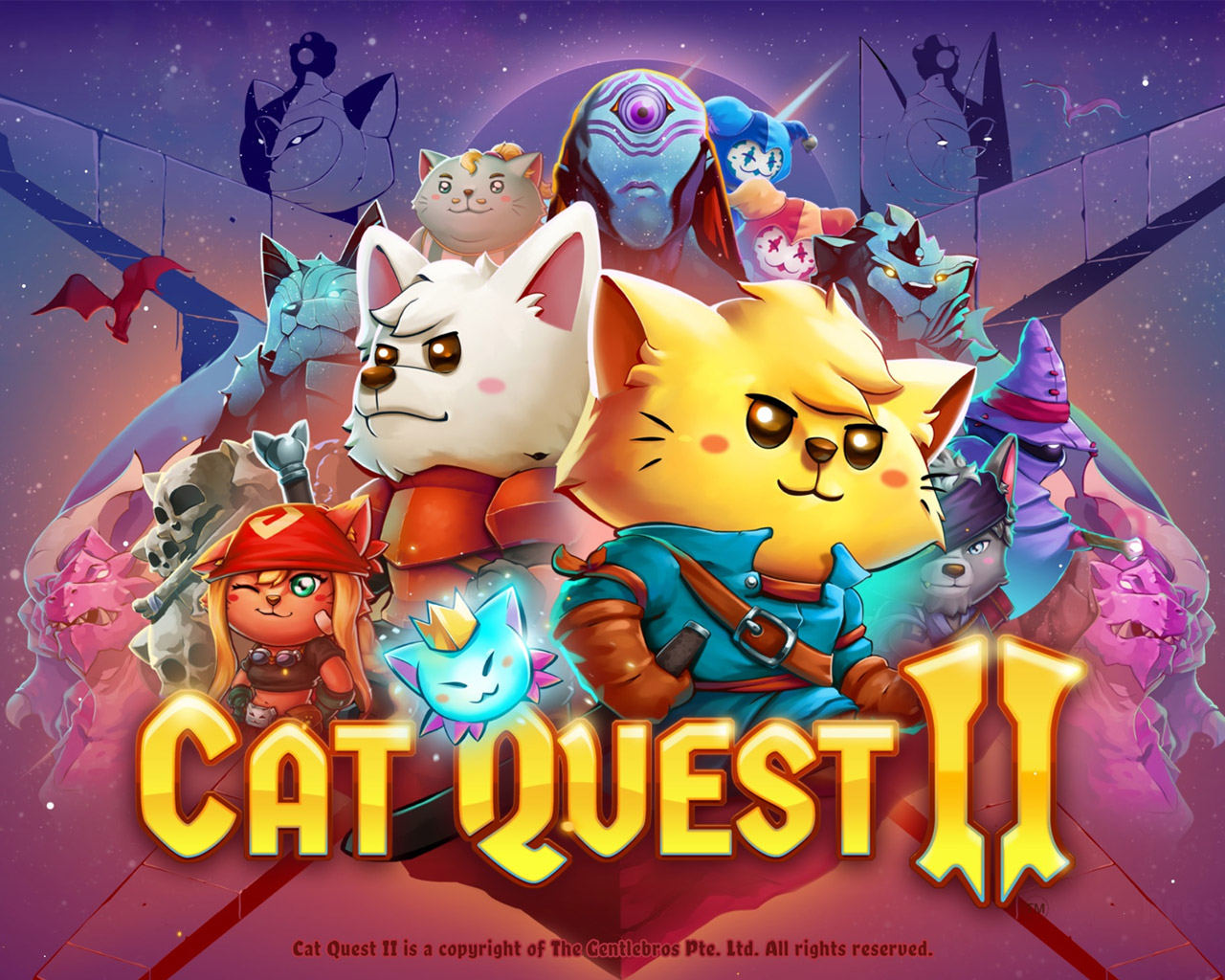 Cat Quest II Wallpaper in 1280x1024