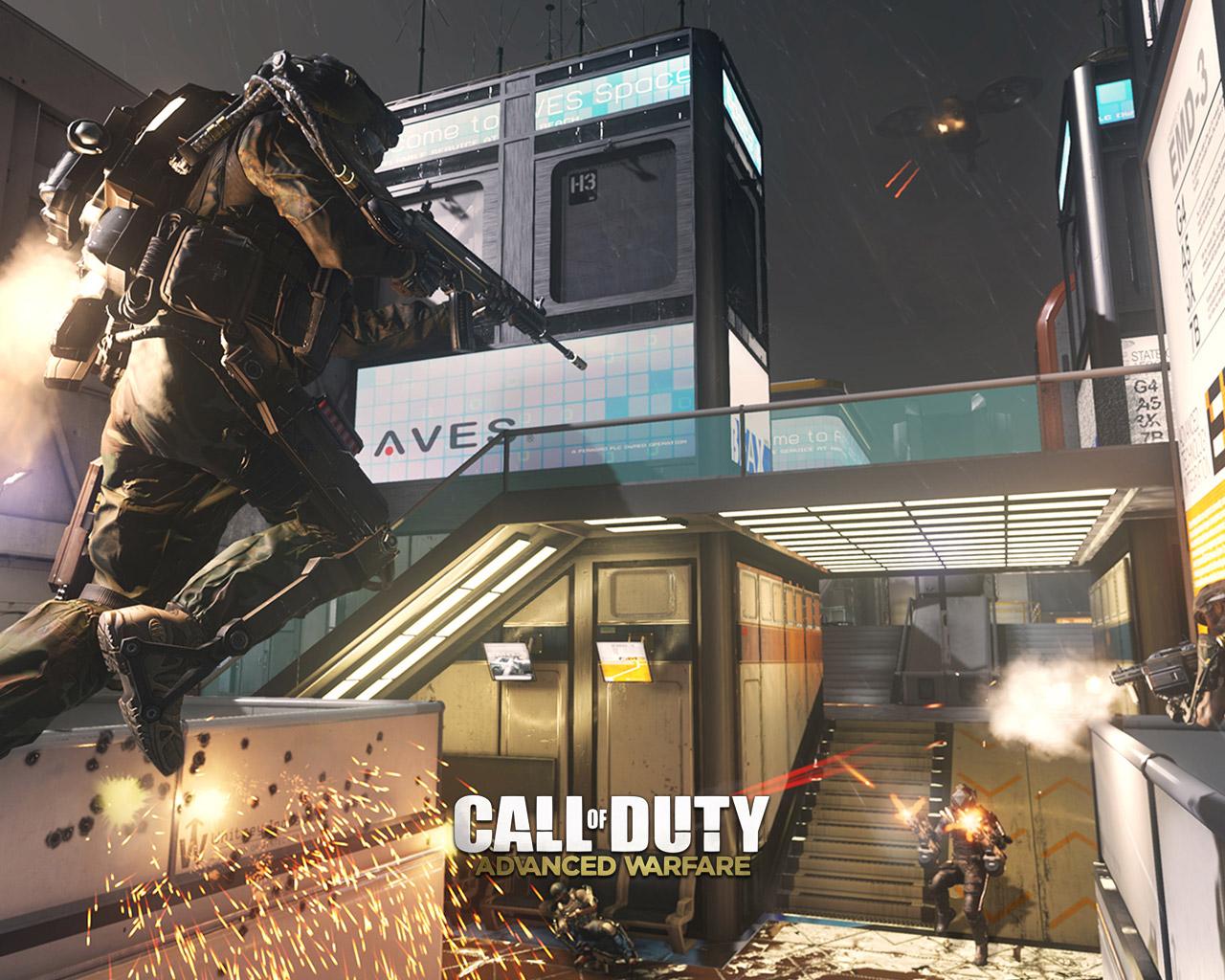 Free Call of Duty: Advanced Warfare Wallpaper in 1280x1024