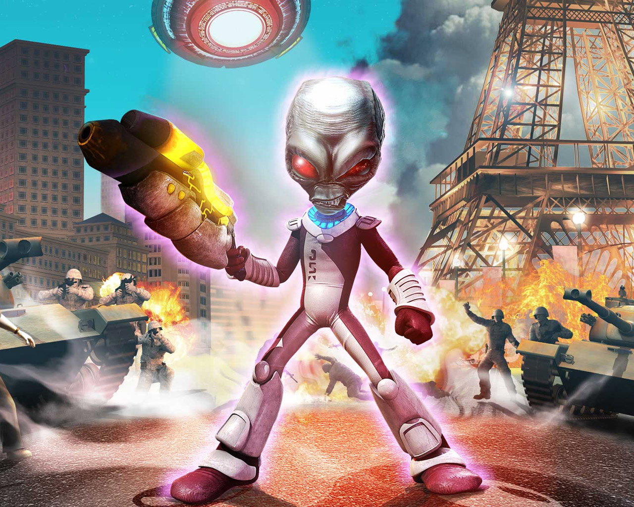 Destroy All Humans! Path of the Furon Wallpaper in 1280x1024