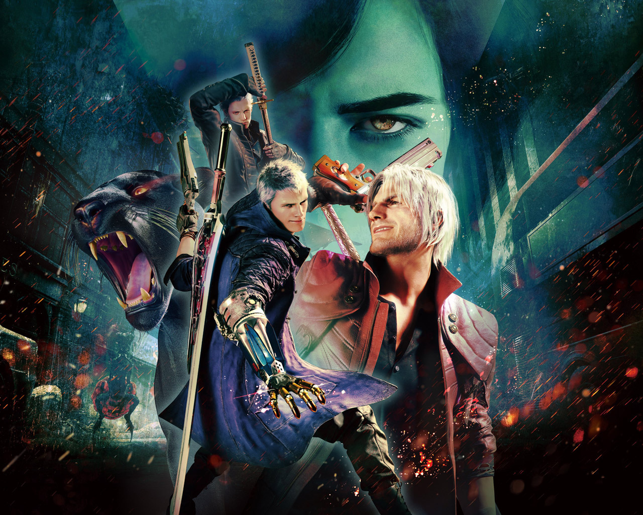 Devil May Cry 5 Wallpaper in 1280x1024