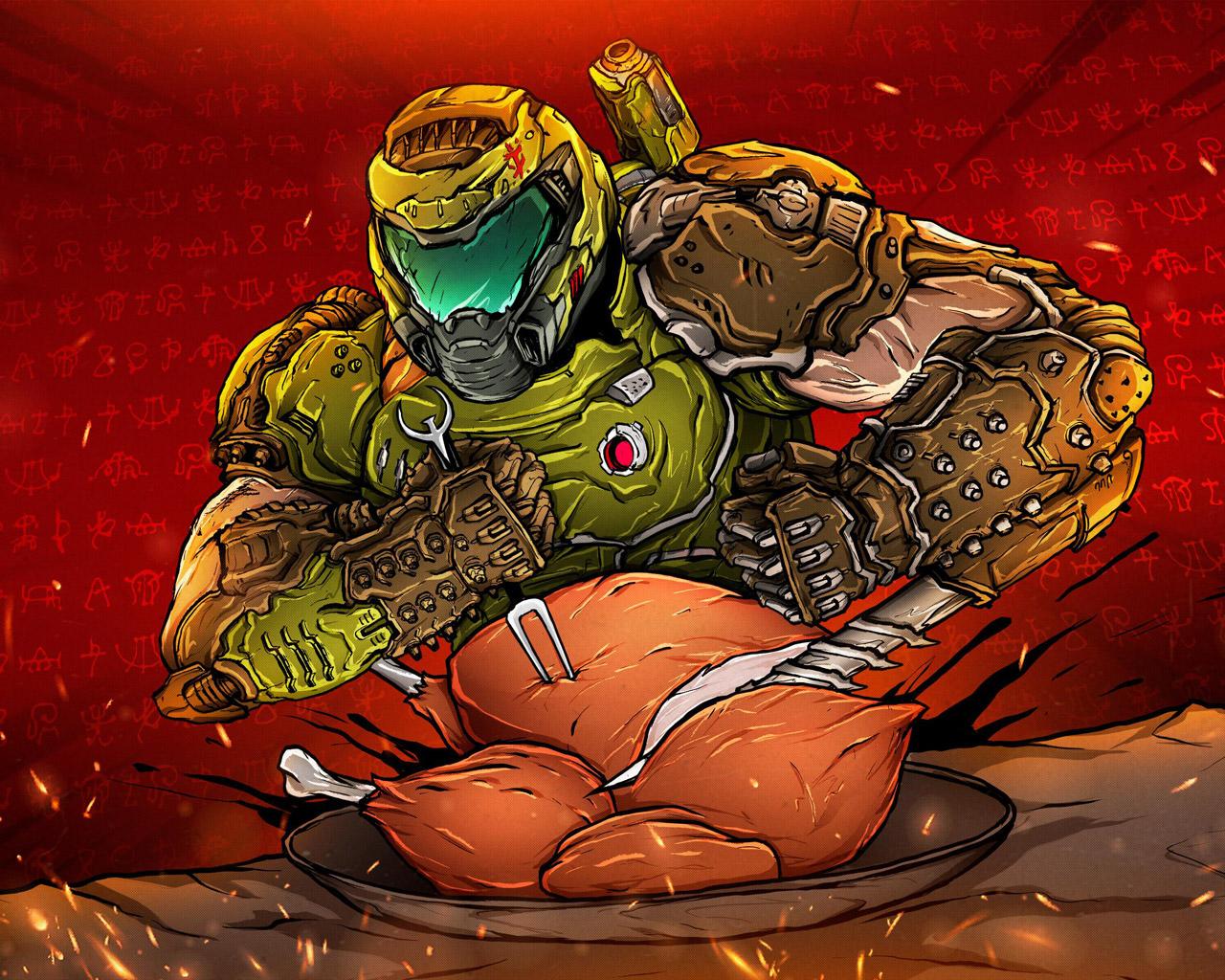 Free Doom Eternal Wallpaper in 1280x1024