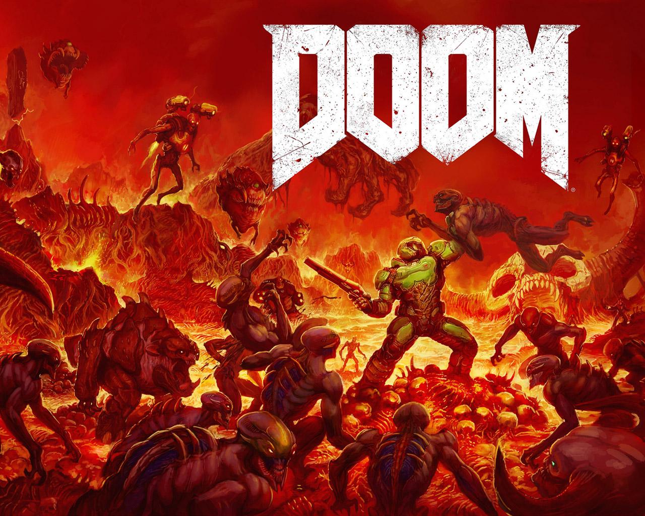 Free Doom (2016) Wallpaper in 1280x1024
