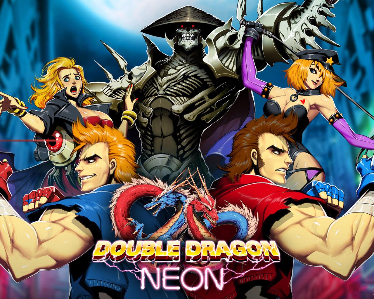 Double Dragon Neon Wallpaper in 1280x1024