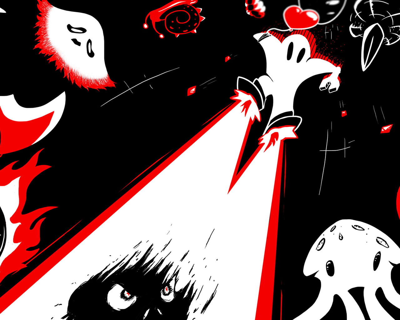 Free Downwell Wallpaper in 1280x1024