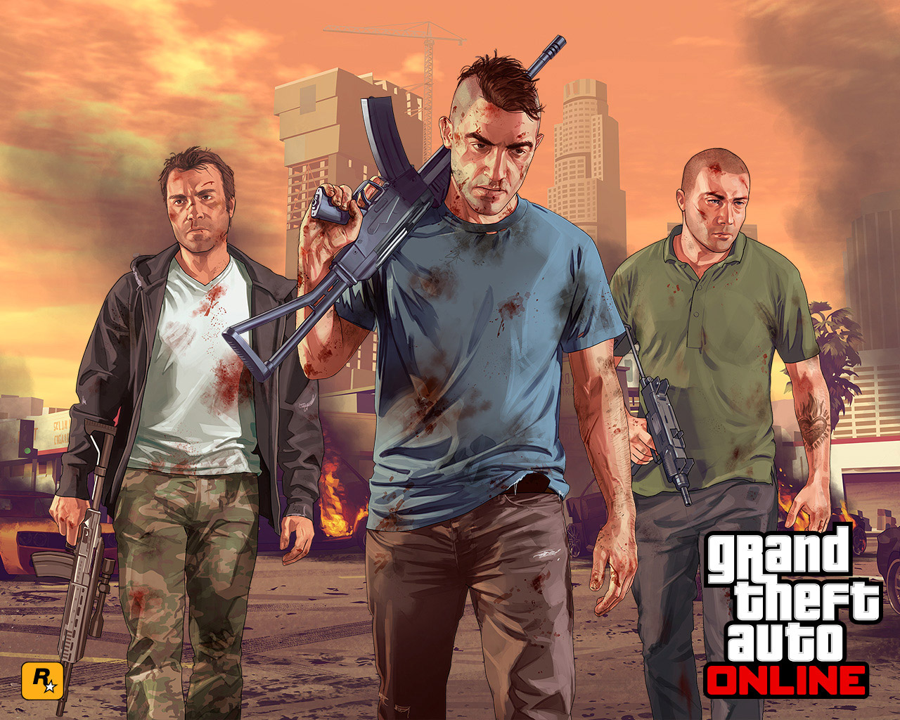 Free Grand Theft Auto V Wallpaper in 1280x1024