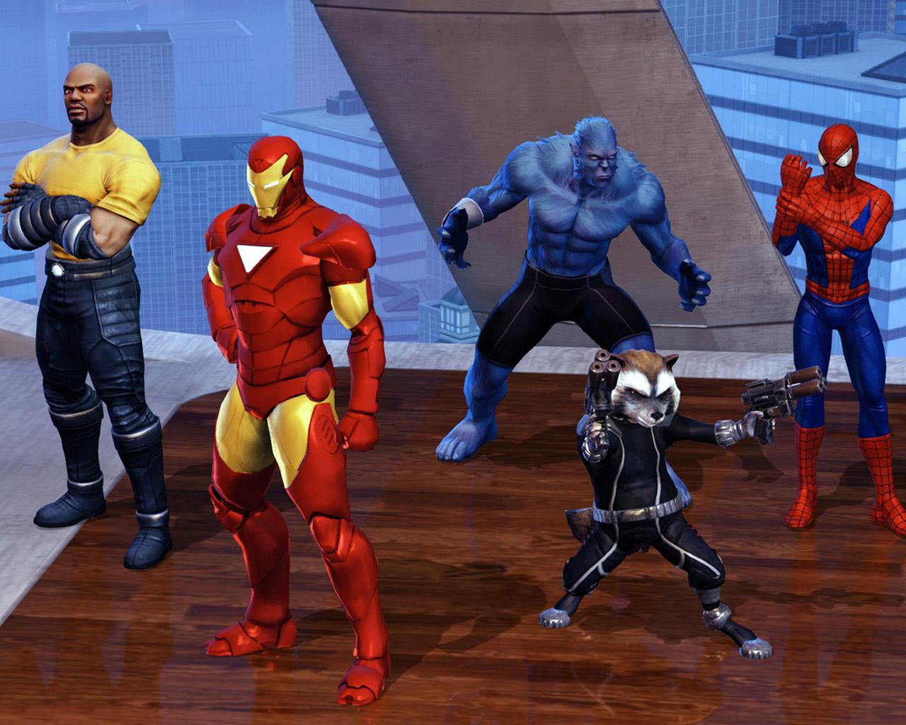 Free Marvel Heroes Wallpaper in 1280x1024