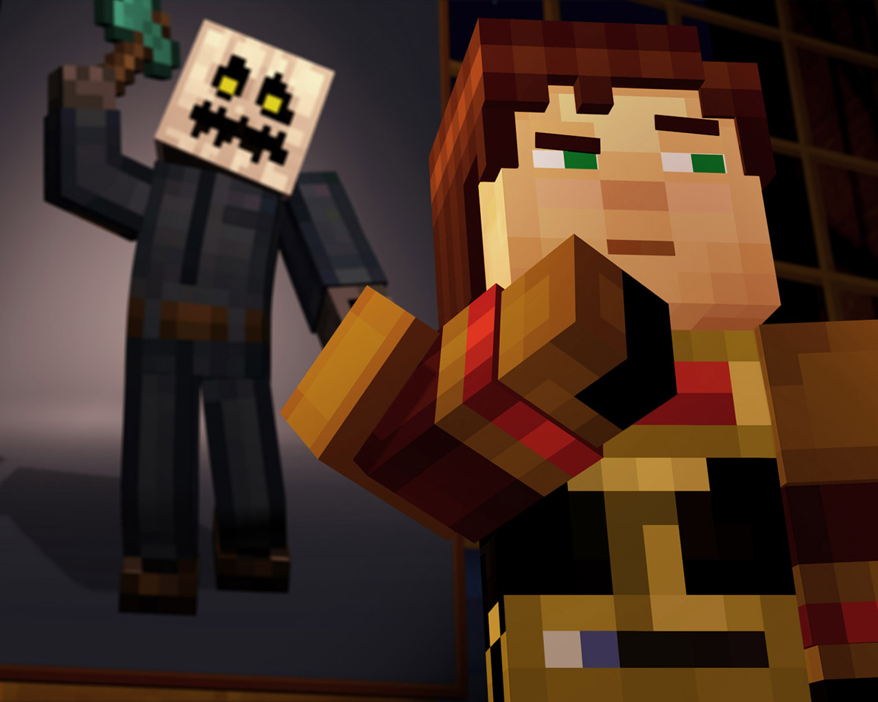 Free Minecraft: Story Mode Wallpaper in 1280x1024