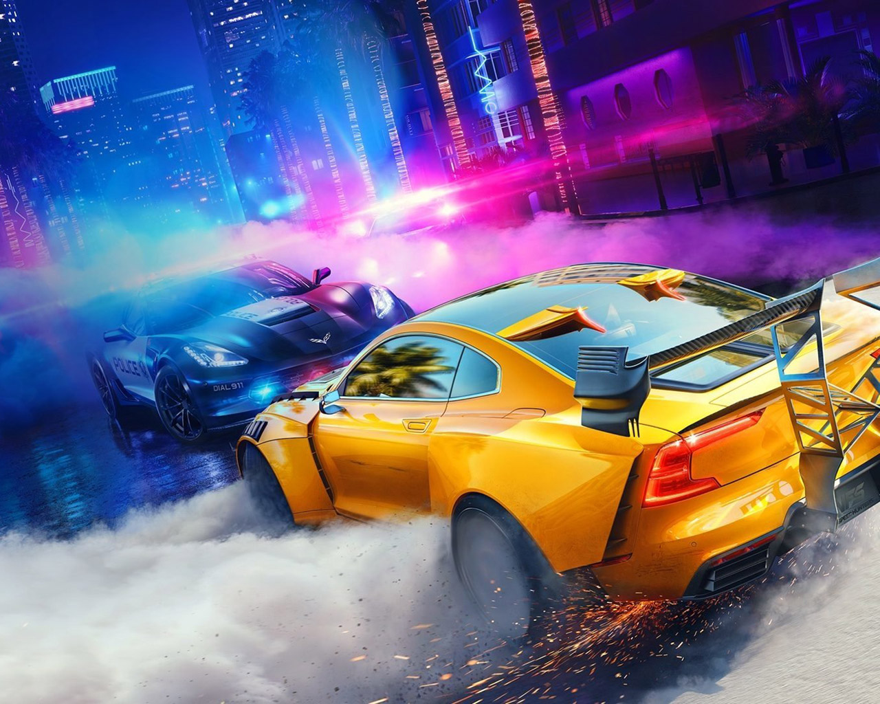 Need for Speed Heat Wallpaper in 1280x1024