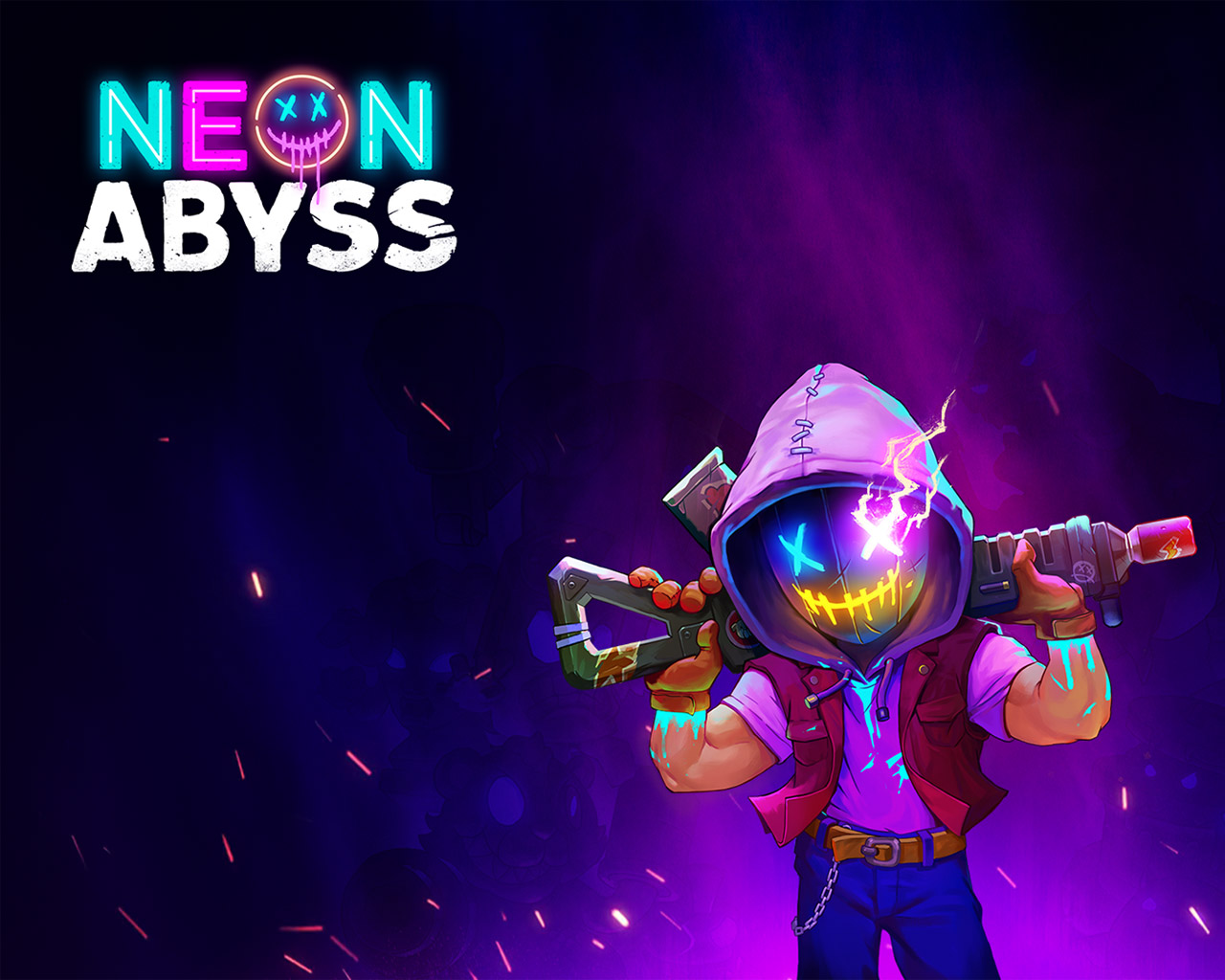 Neon Abyss Wallpaper in 1280x1024