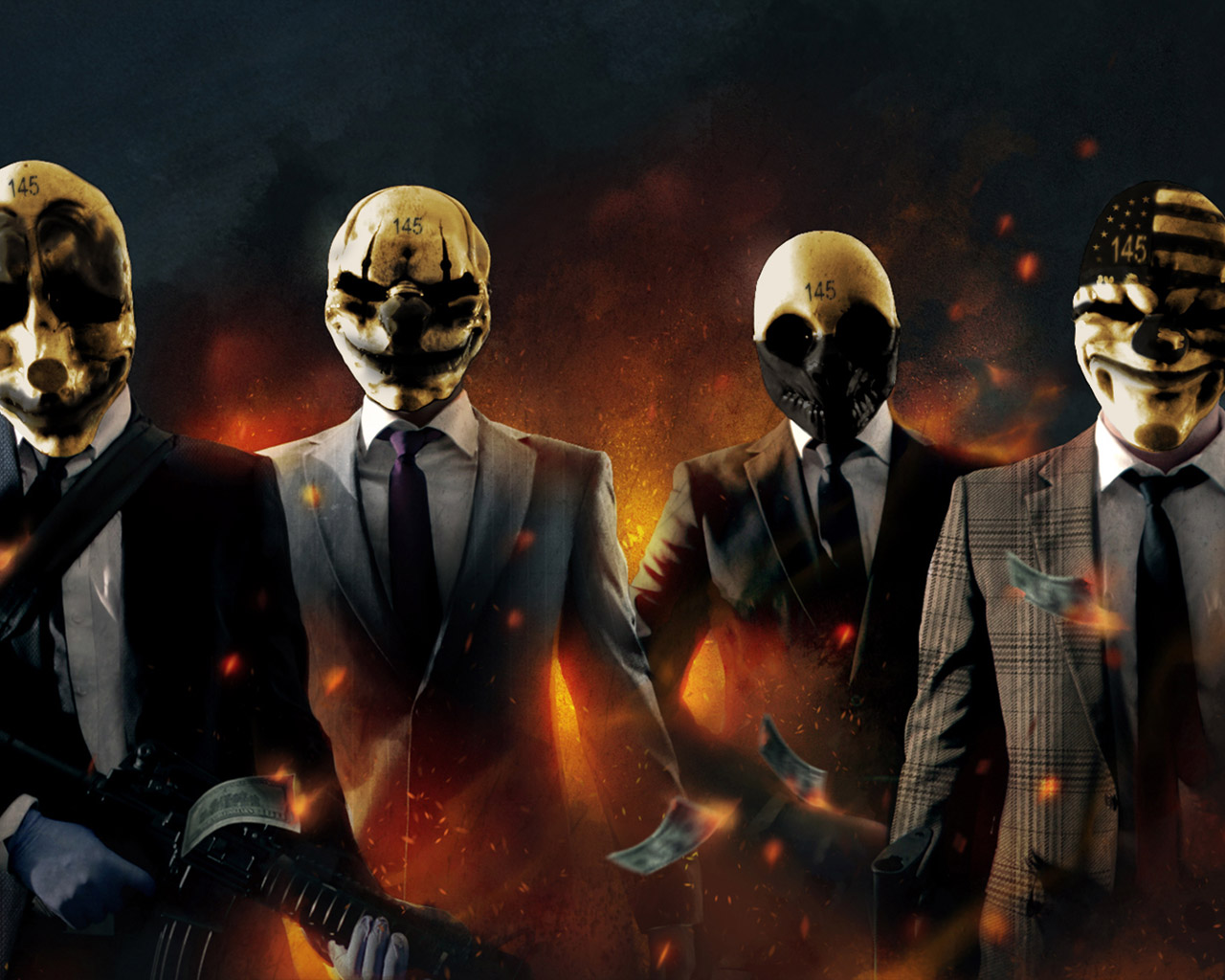 Free Payday: The Heist Wallpaper in 1280x1024
