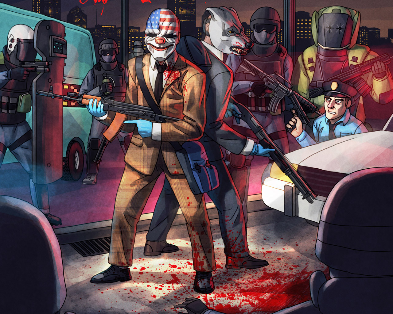 Free Payday 2 Wallpaper in 1280x1024