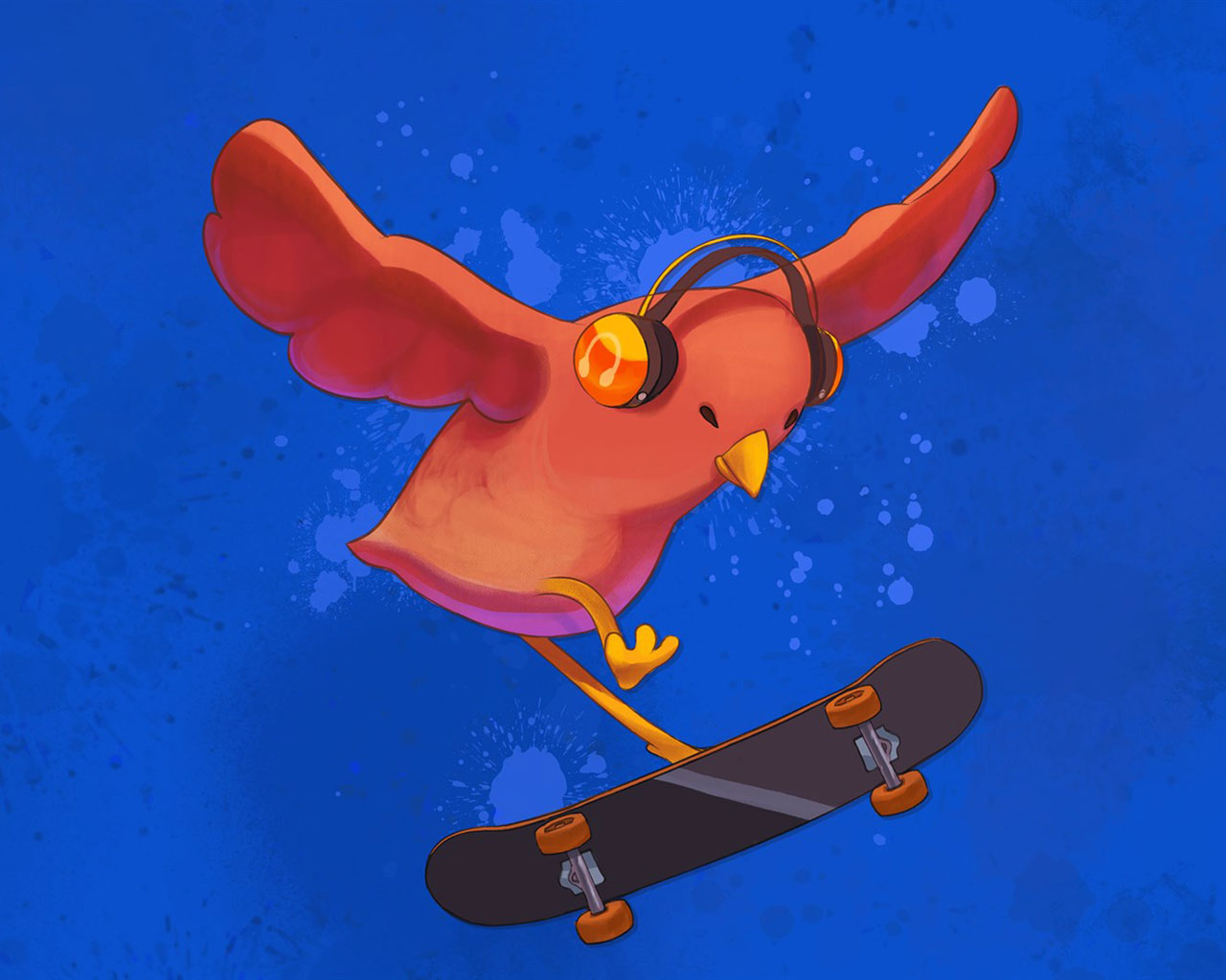 Free Skatebird Wallpaper in 1280x1024