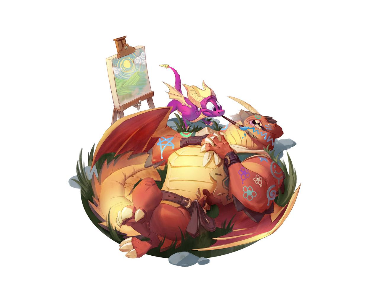 Free Spyro the Dragon Wallpaper in 1280x1024