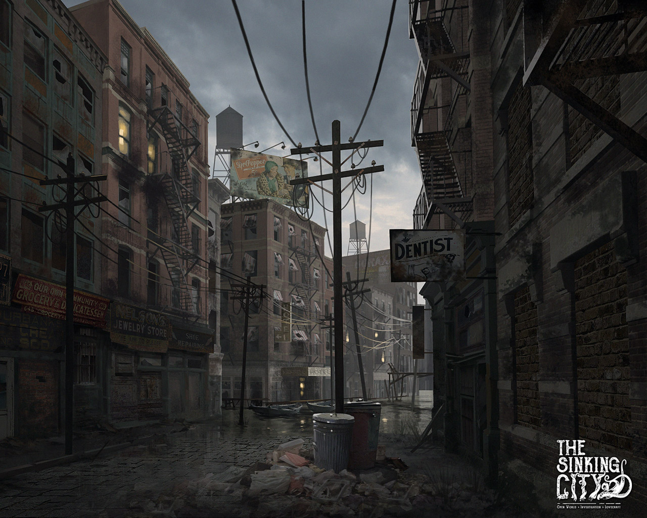 Free The Sinking City Wallpaper in 1280x1024