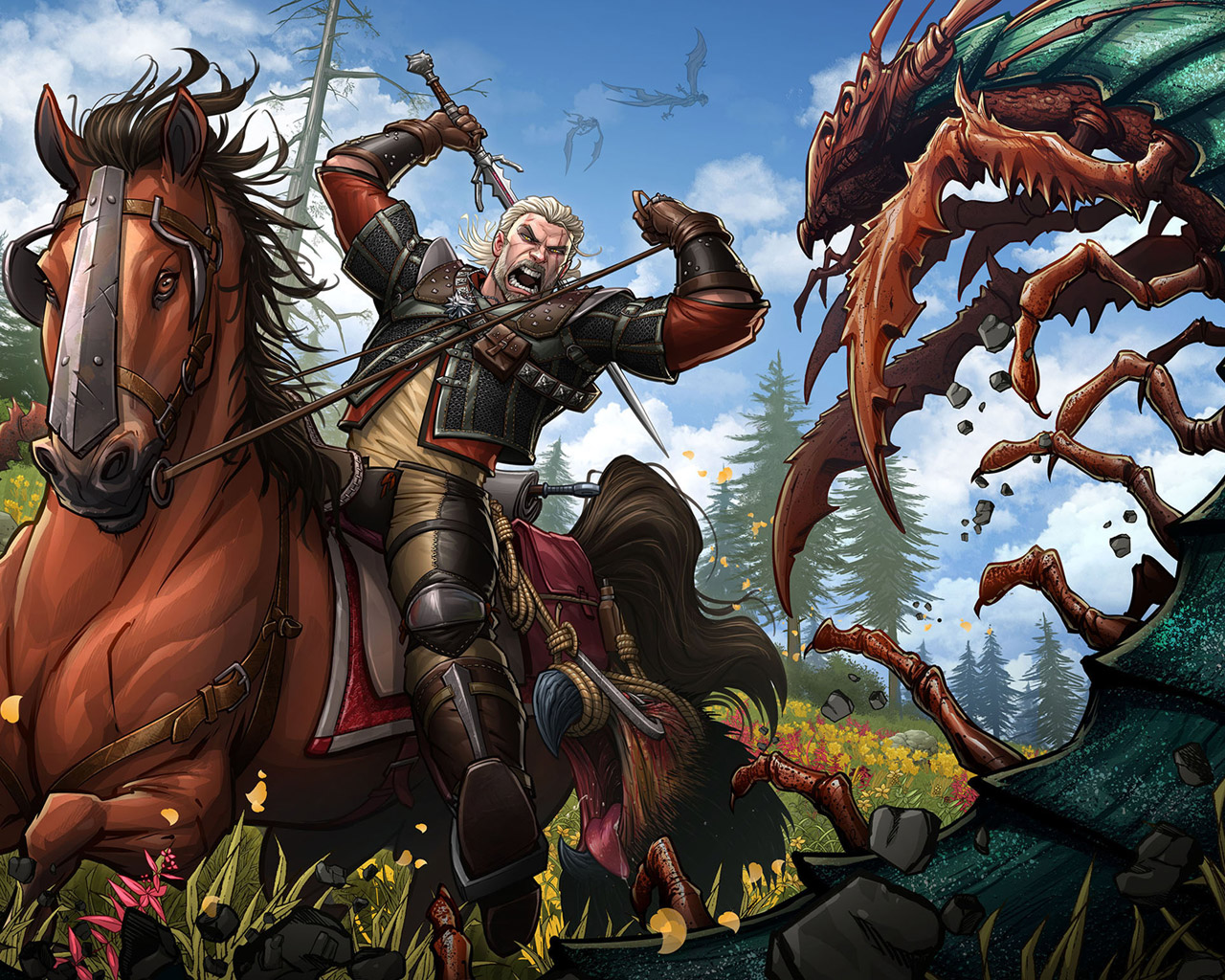 Free The Witcher 3 Wallpaper in 1280x1024