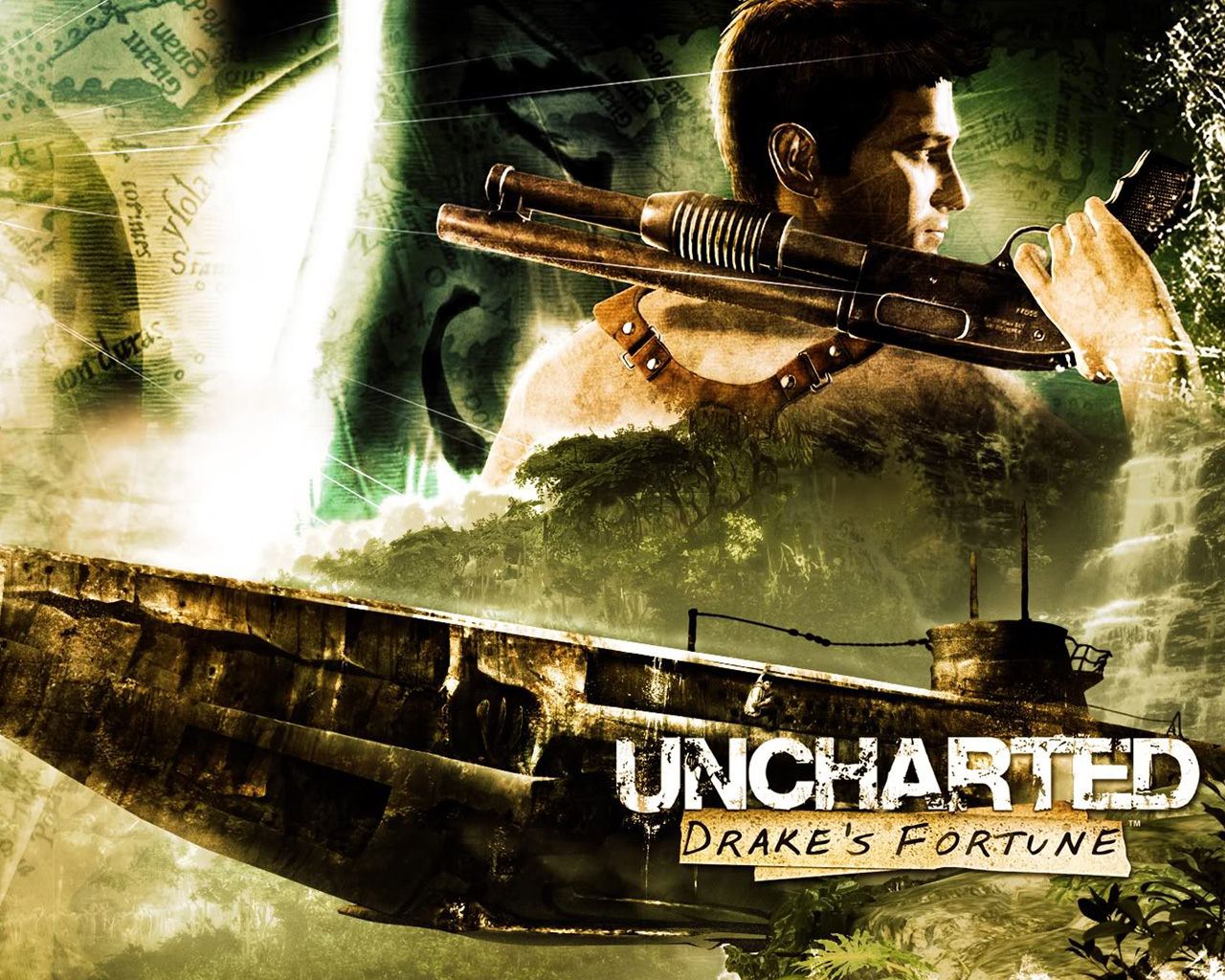 Free Uncharted: Drake's Fortune Wallpaper in 1280x1024