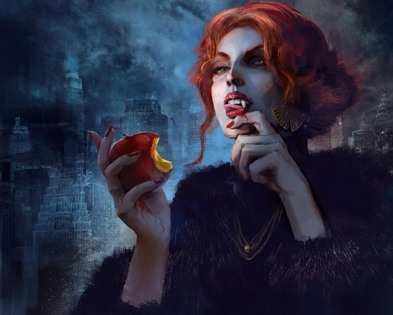 Free Vampire: The Masquerade - Coteries of New York Wallpaper in 1280x1024