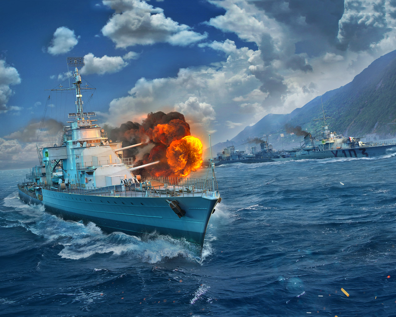 Free World of Warships Wallpaper in 1280x1024