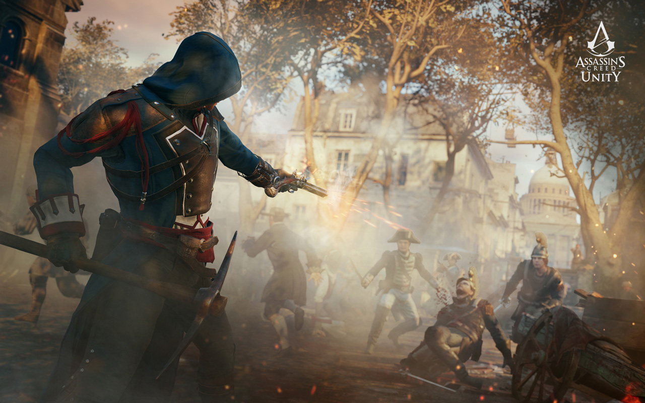 Free Assassin's Creed: Unity Wallpaper in 1280x800