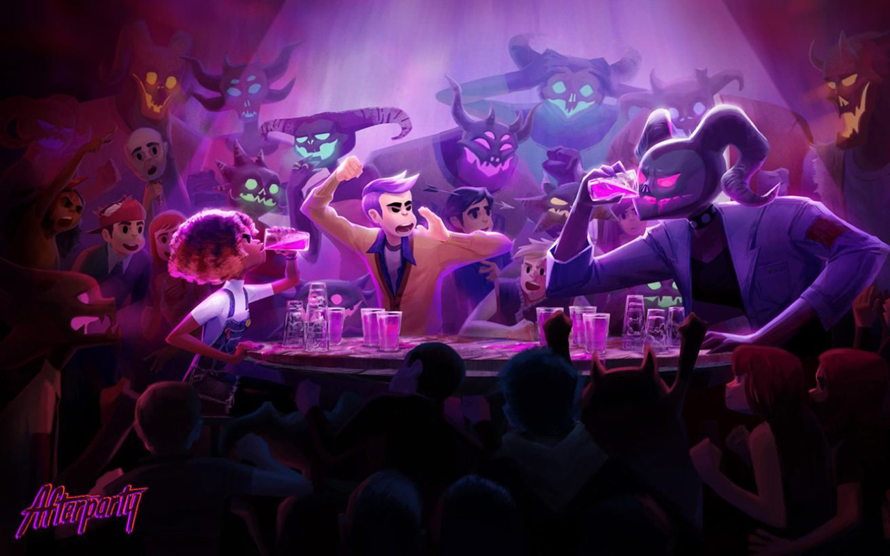 Free Afterparty Wallpaper in 1280x800