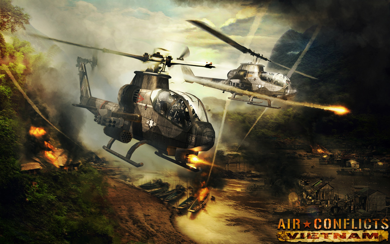 Air Conflicts: Vietnam Wallpaper in 1280x800