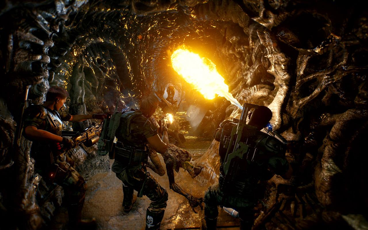 Free Aliens: Fireteam Elite Wallpaper in 1280x800