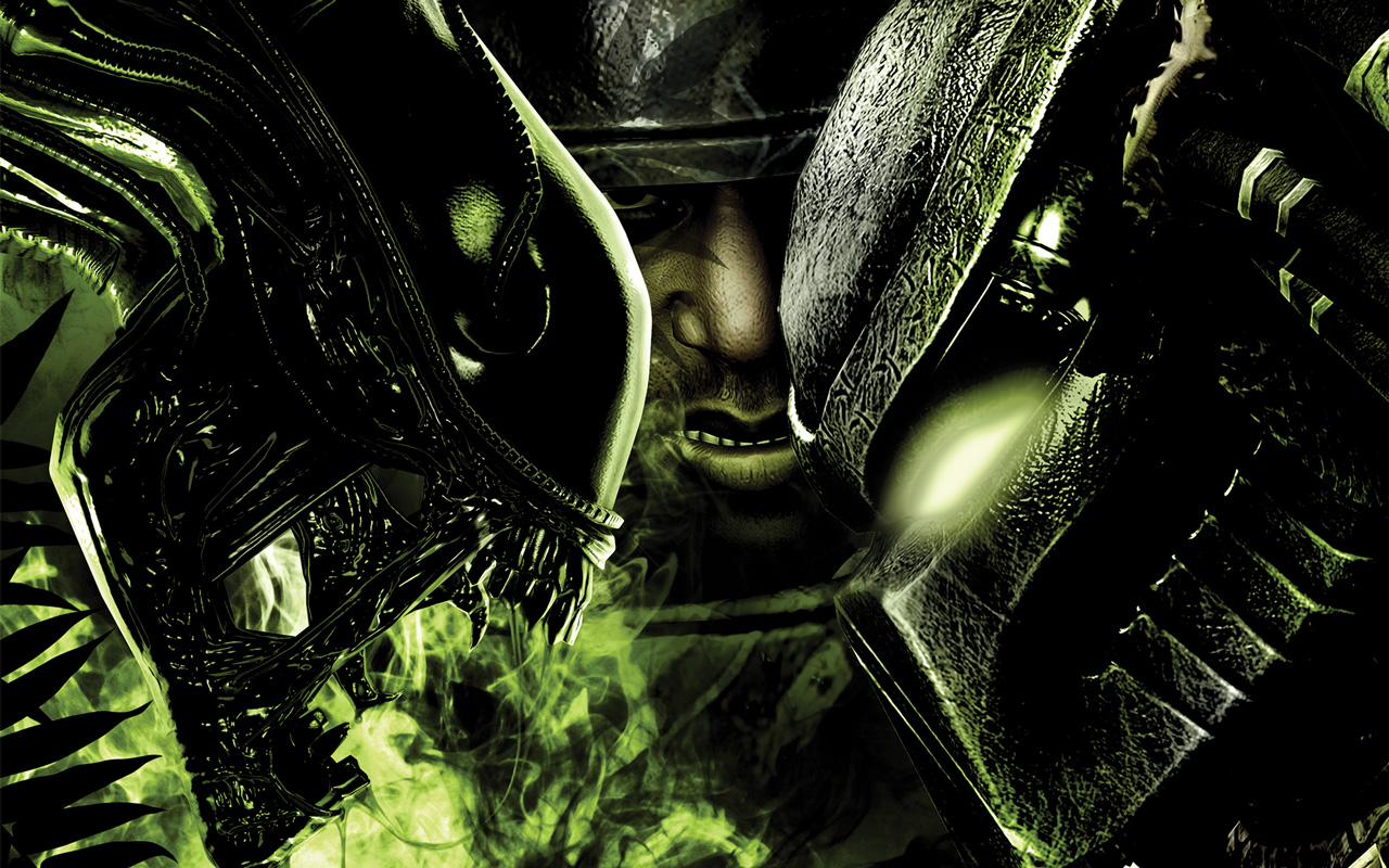 Free Aliens vs Predator Wallpaper in 1280x800