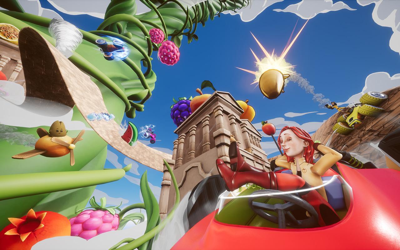 Free All-Star Fruit Racing Wallpaper in 1280x800