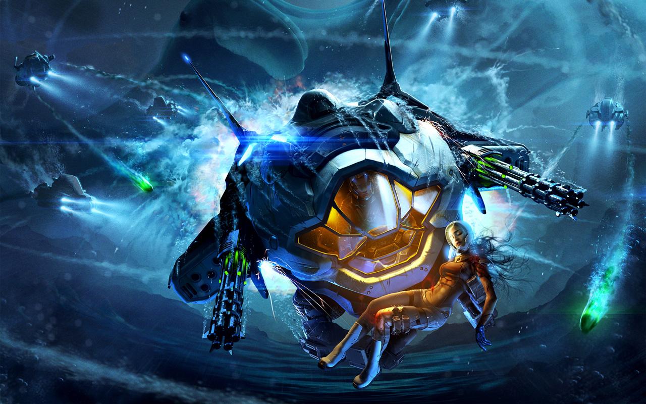 Free Aquanox Deep Descent Wallpaper in 1280x800