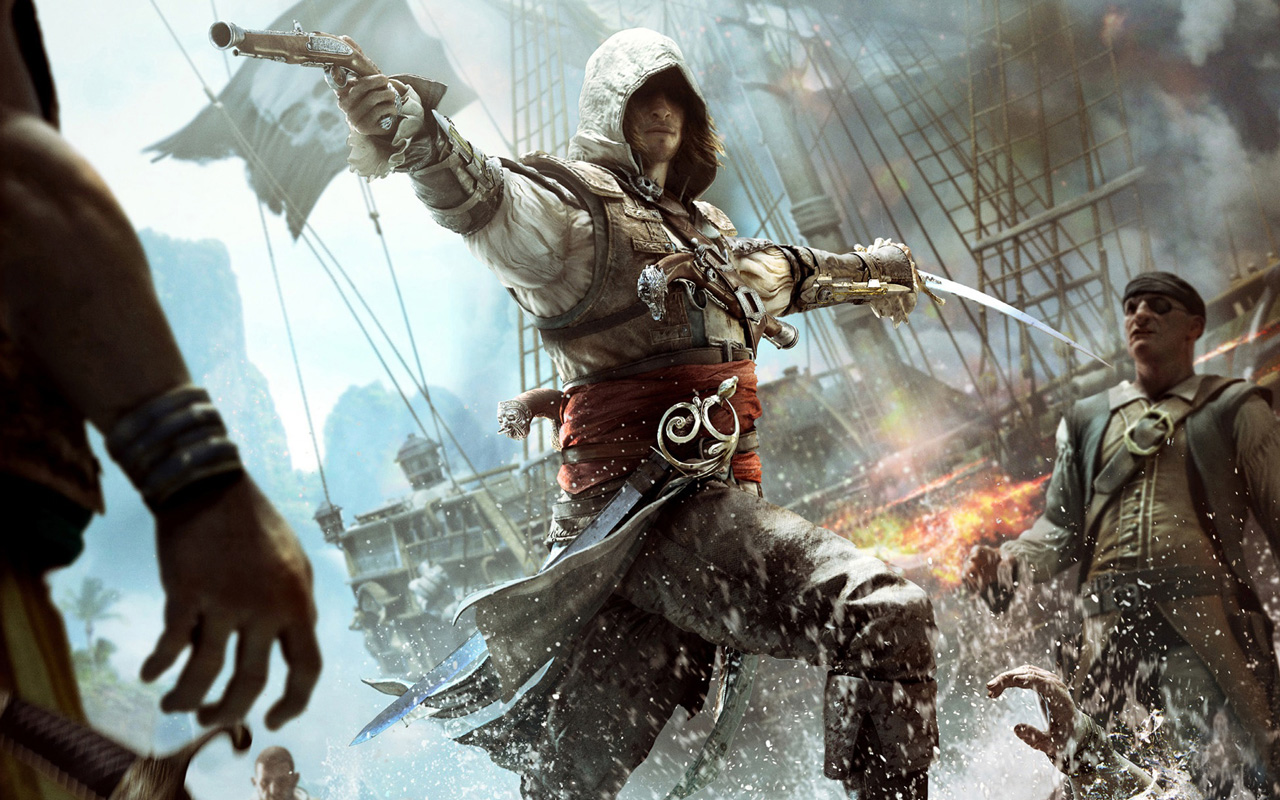 Free Assassin's Creed IV: Black Flag Wallpaper in 1280x800