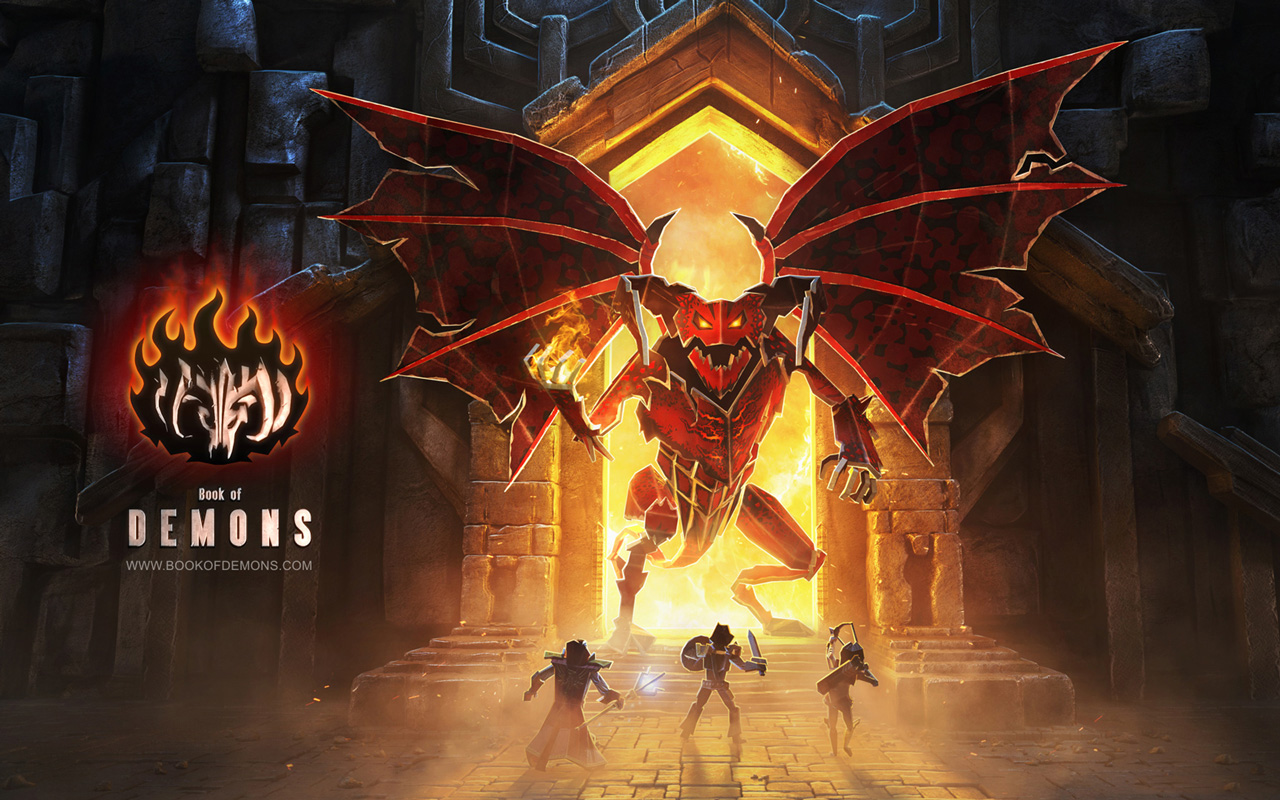 Free Book of Demons Wallpaper in 1280x800