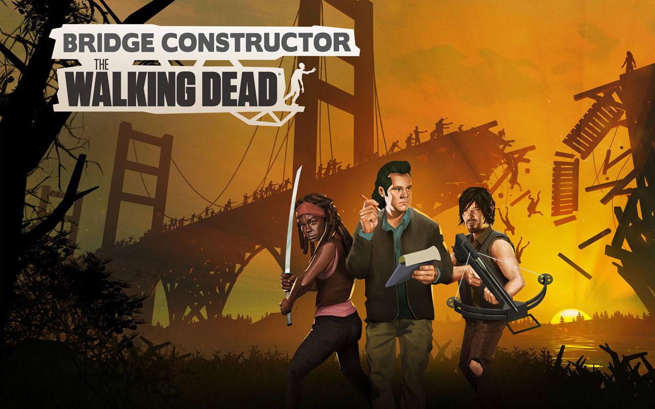 Free Bridge Constructor: The Walking Dead Wallpaper in 1280x800