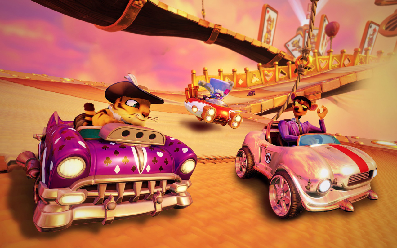 Free Crash Team Racing Nitro-Fueled Wallpaper in 1280x800
