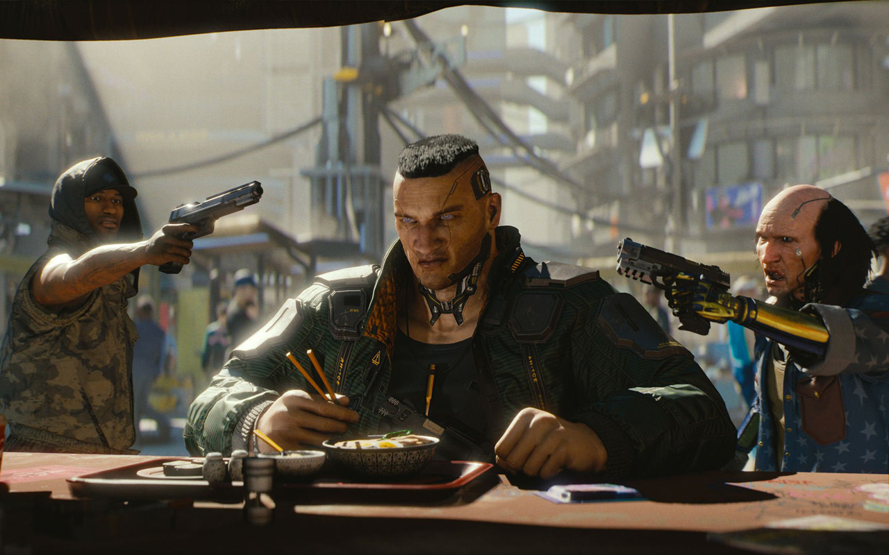 Free Cyberpunk 2077 Wallpaper in 1280x800