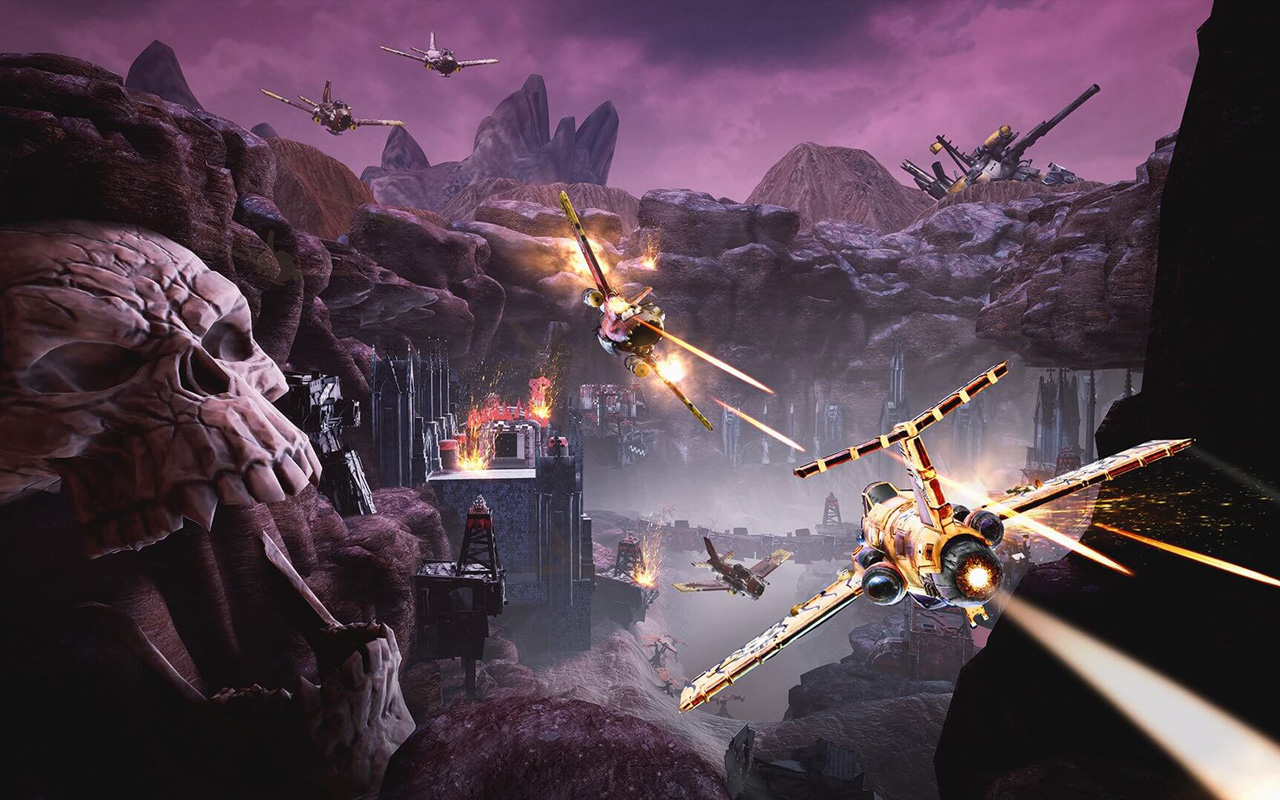 Free Warhammer 40000: Dakka Squadron Wallpaper in 1280x800