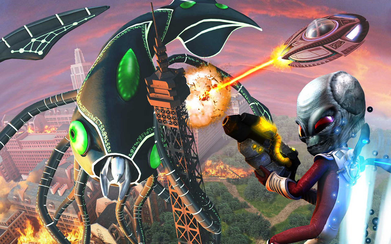 Free Destroy All Humans! Path of the Furon Wallpaper in 1280x800