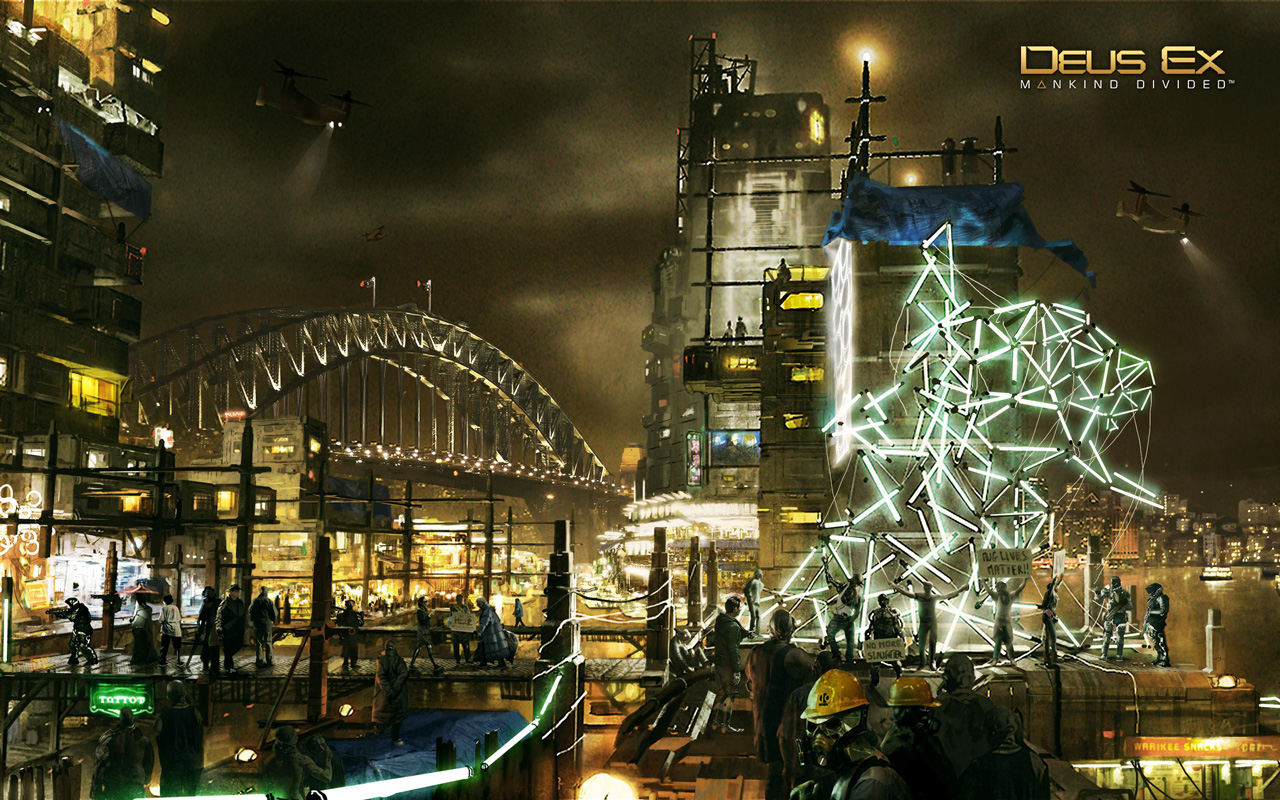 Free Deus Ex: Mankind Divided Wallpaper in 1280x800
