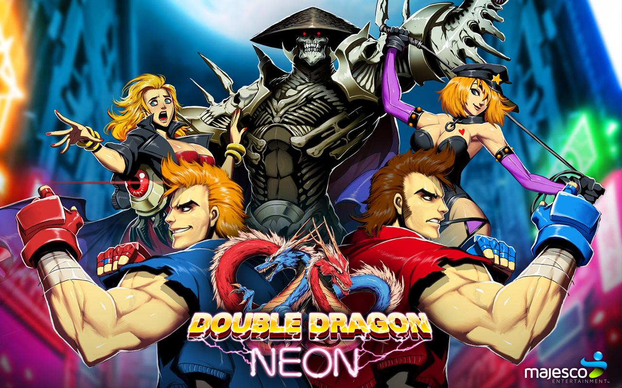 Double Dragon Neon Wallpaper in 1280x800