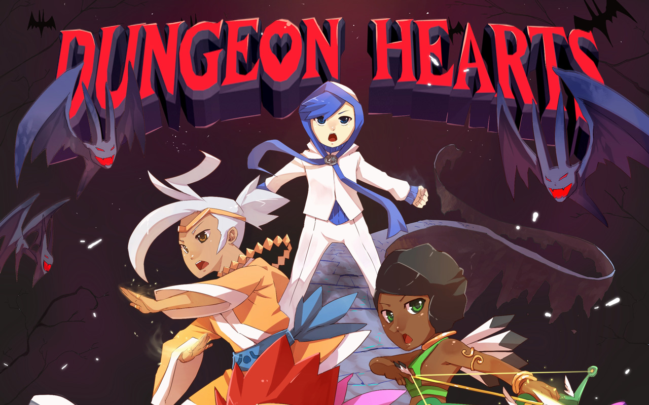 Free Dungeon Hearts Wallpaper in 1280x800