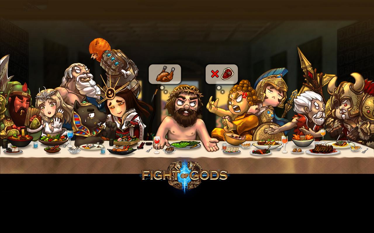 Free Fight of Gods Wallpaper in 1280x800