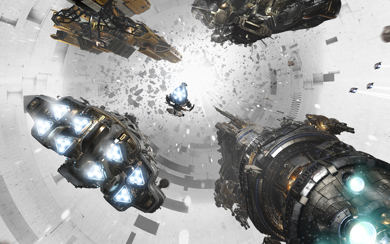 Free Fractured Space Wallpaper in 1280x800