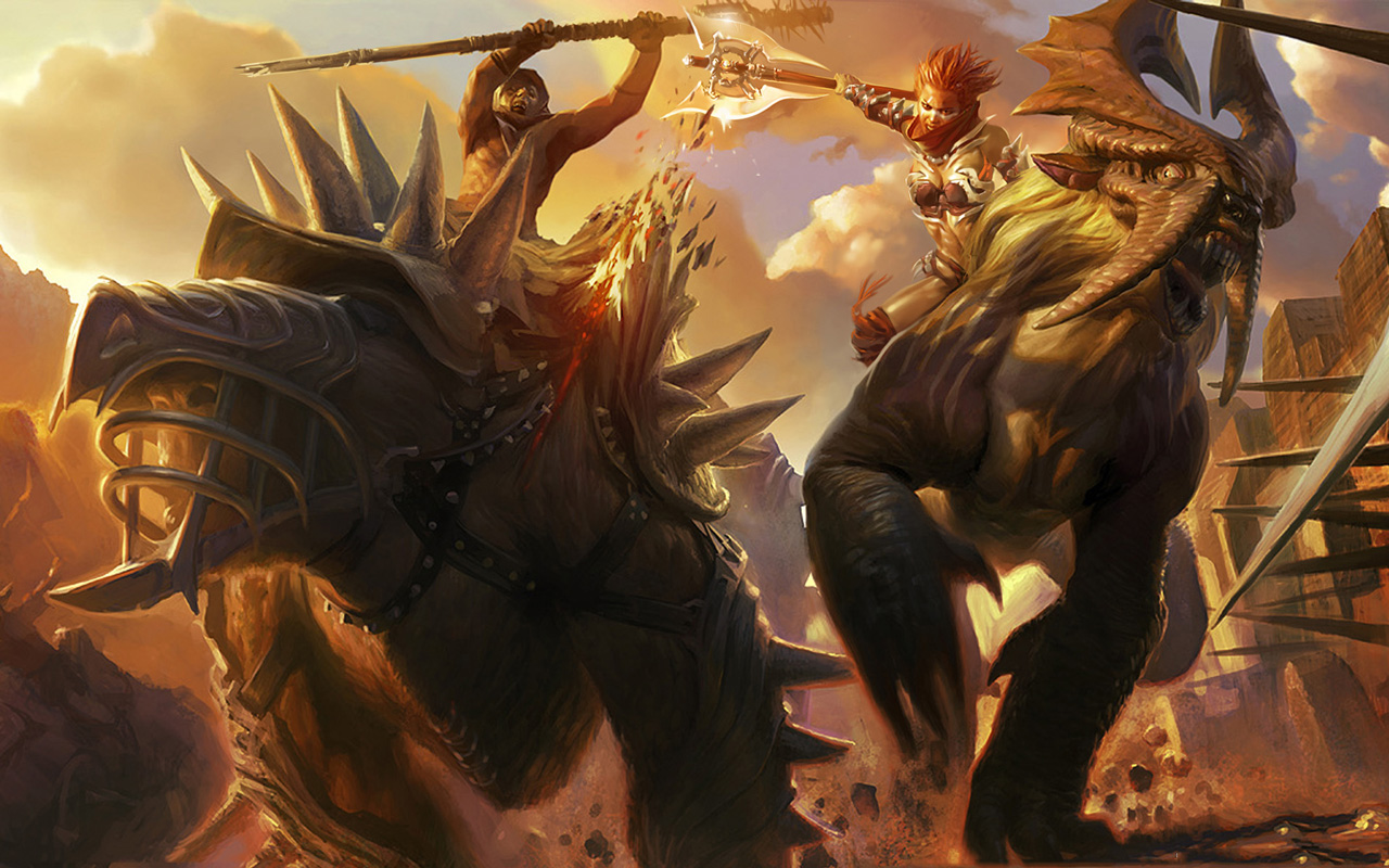 Free Golden Axe: Beast Rider Wallpaper in 1280x800