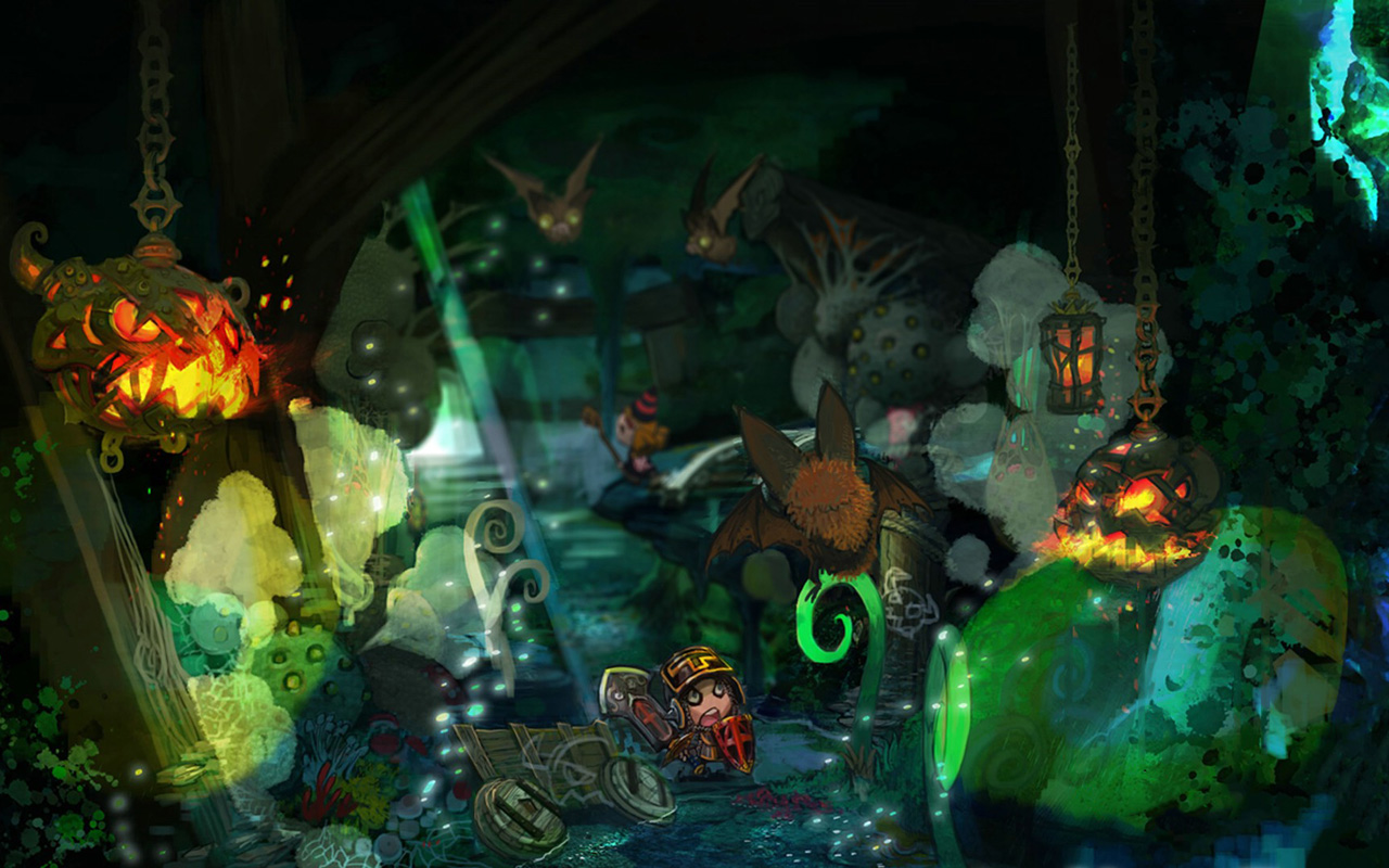 Free Happy Dungeons Wallpaper in 1280x800
