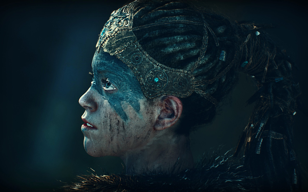 Free Hellblade: Senua's Sacrifice Wallpaper in 1280x800
