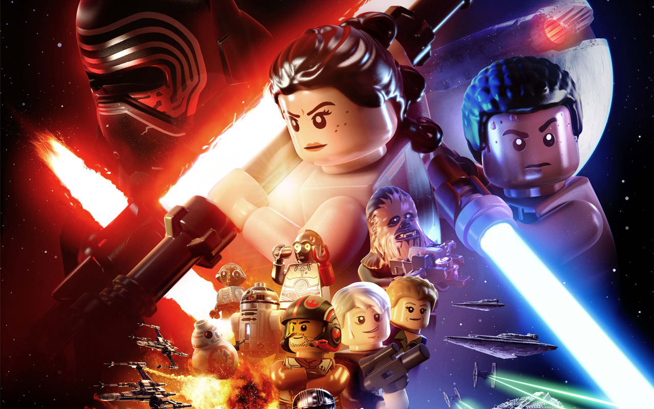 Free Lego Star Wars: The Force Awakens Wallpaper in 1280x800