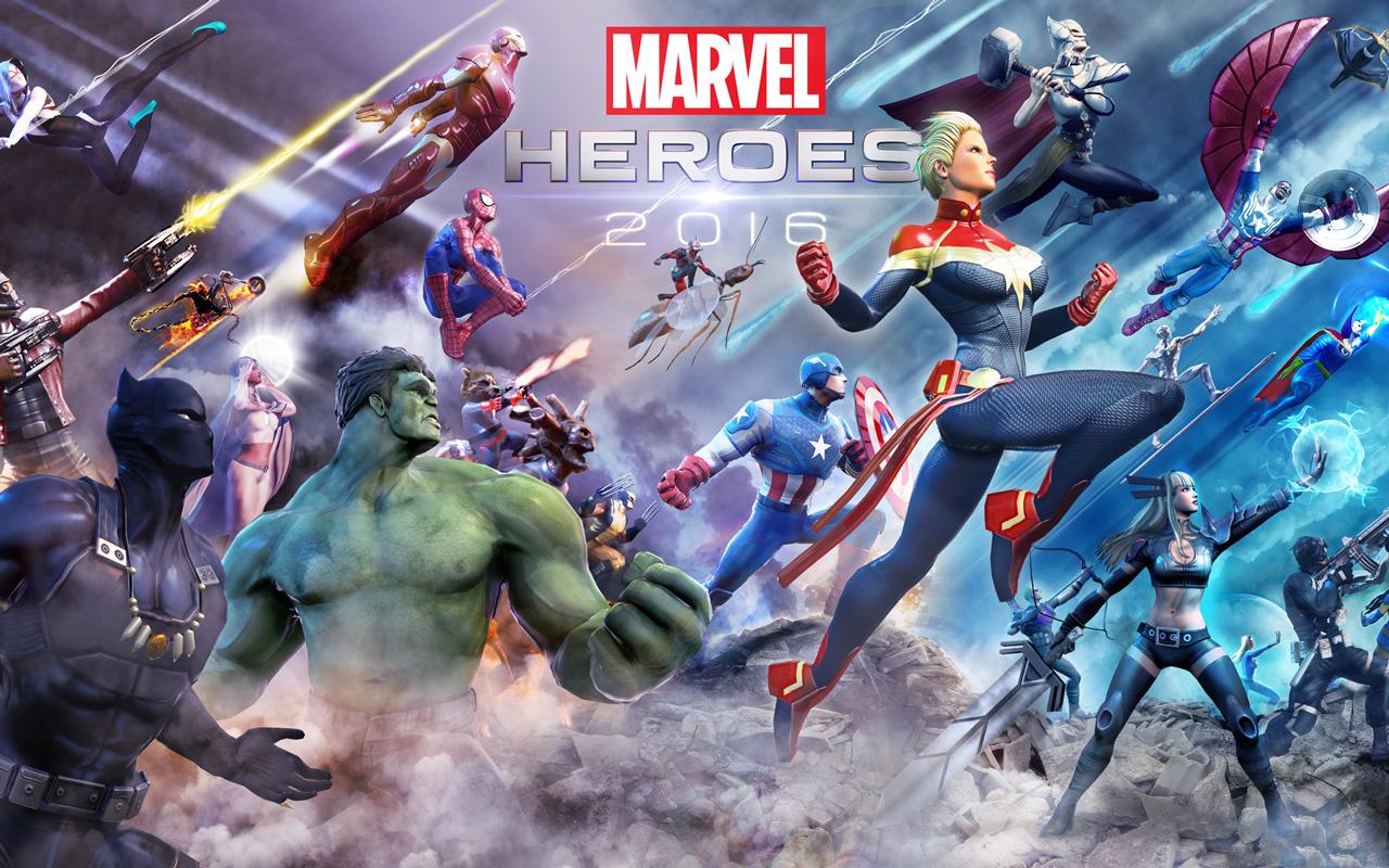 Free Marvel Heroes Wallpaper in 1280x800